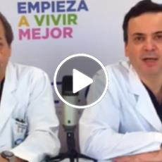 El doctor Llamil Kauak y Marcos Berry hablando de cirugía bariátrica y plástica en un video